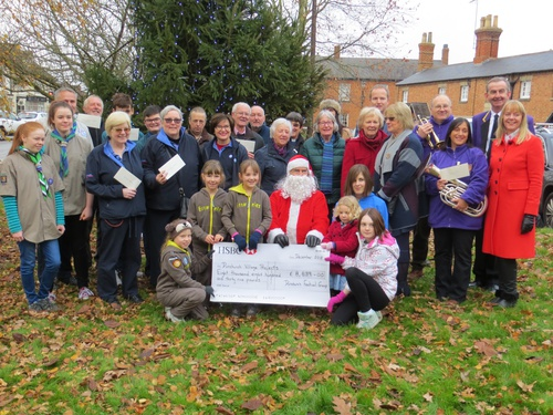 Photo of the Dunchurch Festival Group's presentation to local good causes